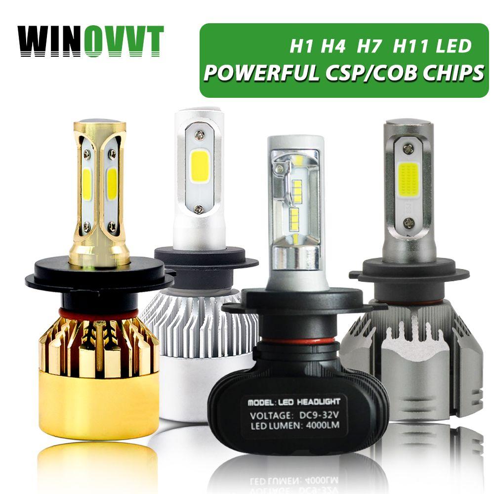 H7 Led H1 H3 H4 H11/H8/H9 9005/HB3 9006/HB4 Headlight Bulb 50 Watta 8000LM 6000K S1 Automobile Lamp 12V Fog Light
