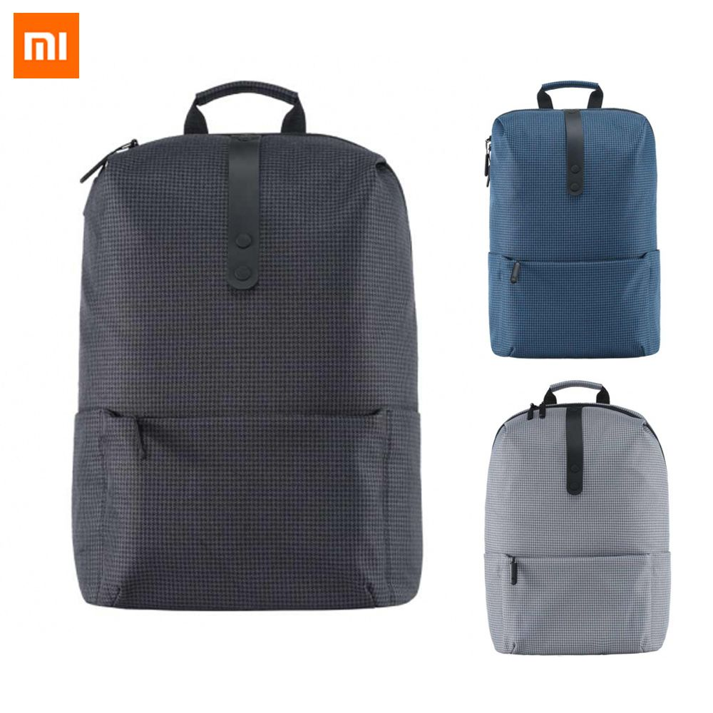 2017 New Xiaomi Fashion School Backpack Bag 600D Polyester Durable Waterproof Outdoor Suit For 15.6 Inch Laptop Computer