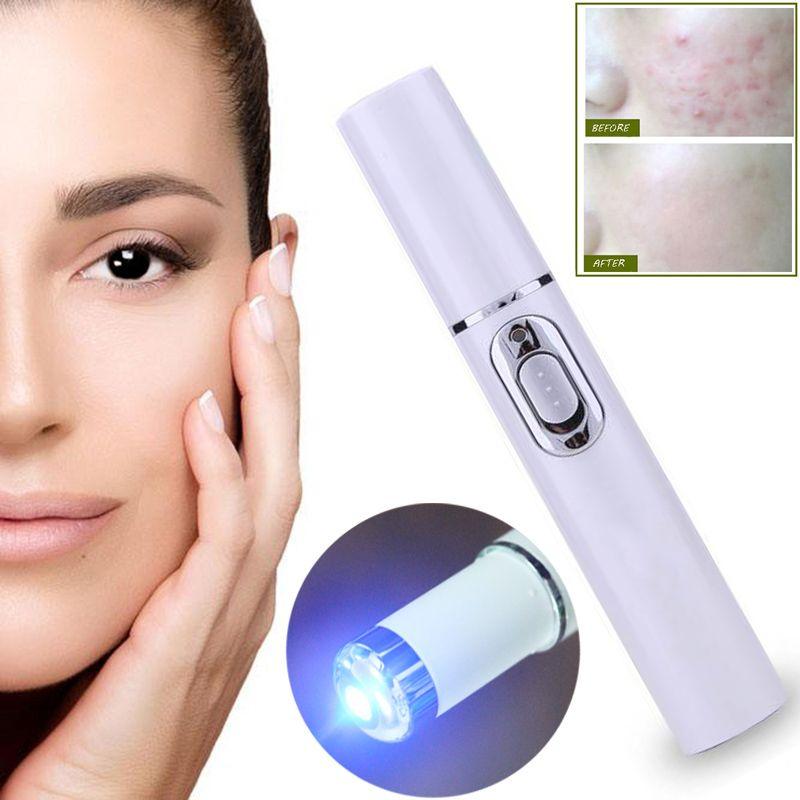 Stylo Laser acné Portable Machine de retrait des rides Durable dissolvant de cicatrice douce bleu stylo de thérapie de la lumière Massage araignée veine gomme