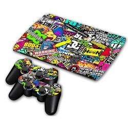 Bomb Vinyl Decal Skin Sticker For PS3 Super Slim 4000 Console Skins+2PCS Stickers For PS3 Controller Joystick Gampad Vinyl Skin