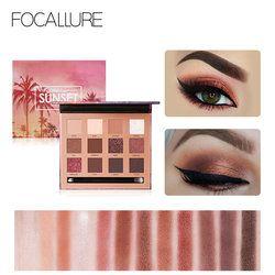 Focallure 12 Warna Eyeshadow Palet Glitter Matte Shimmer Powder Cocok untuk Harian Partai Super Tinggi Pigmen Mata Makeup Bayangan