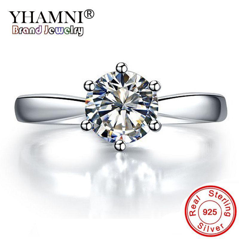 11,11 Geld Verloren Verkauf! 100% Original 925 Sterling Silber Ring Luxus Solitaire 1 Carat CZ Diamant Hochzeit Ringe für Frauen ANR003