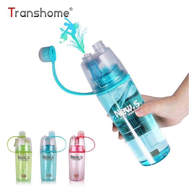 Новое Прибытие Спорт Спрей бутылка для воды Бутылки Воды Новый. B Движение Двойного назначения Моды Пластиковые Стаканчики 0.6L/0.4L