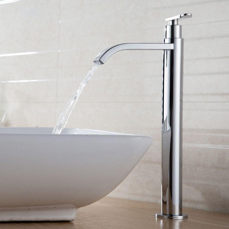Seule l'eau froide 31 cm grand cascade salle de bains robinet chrome ou finition brossée