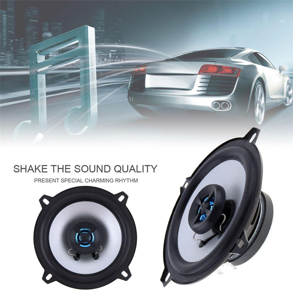 1 Pair 5 Inch 2 Way 80W Coaxial Car Speaker Automobile Automotive Loudspeaker 4OHM Auto Stereo Audio Loud Speaker