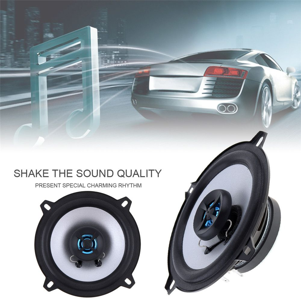 1 Pair New 5 Inch 2 Way 80W Coaxial Car Speaker Automobile Loudspeaker 4OHM Audio Stereo Speaker