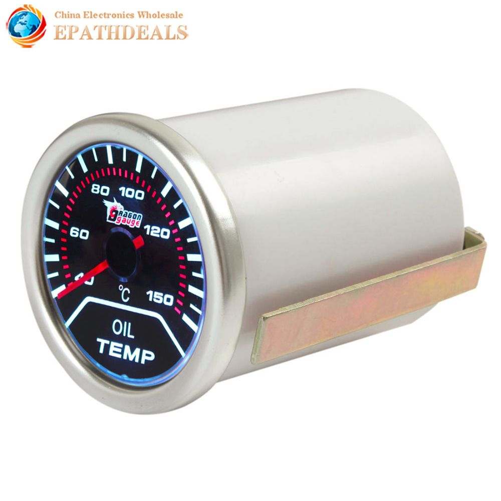 2 Inch 52mm 40-150 Degrees Celsius Auto Car Motor Indicator Oil Temp Gauge Oil Temperature Meter With Led Display
