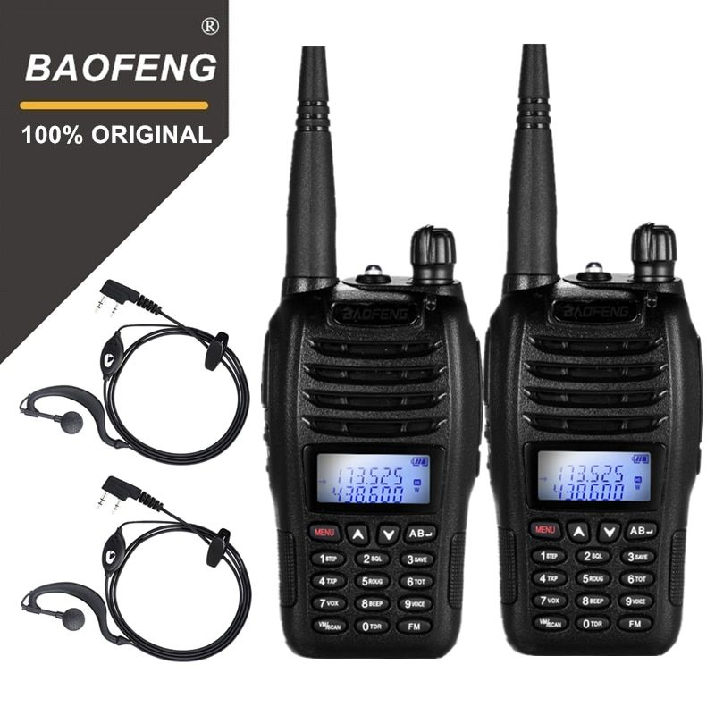 2PCS BaoFeng UV-B6 Portable Walkie Talkie UV B6 Two Way Radio Dual Band VHF/UHF Woki Toki 5W FM Radio Transceiver