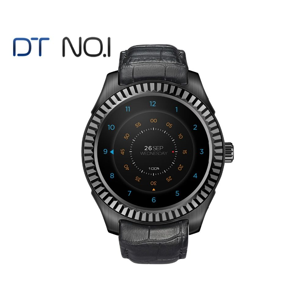 DTNO.1 D7 Smart watch Android 4.4 smart-health MT6572 Bluetooth 4.0 500 mAh GPS 3G Wifi Heart Rate Monitor