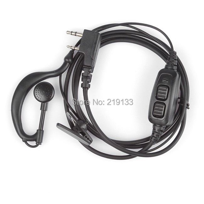 BAOFENG Accessories Original  Dual PTT headset earpiece with mic for Baofeng UV-82  UV 82 UV82L UV-89 2-way radio
