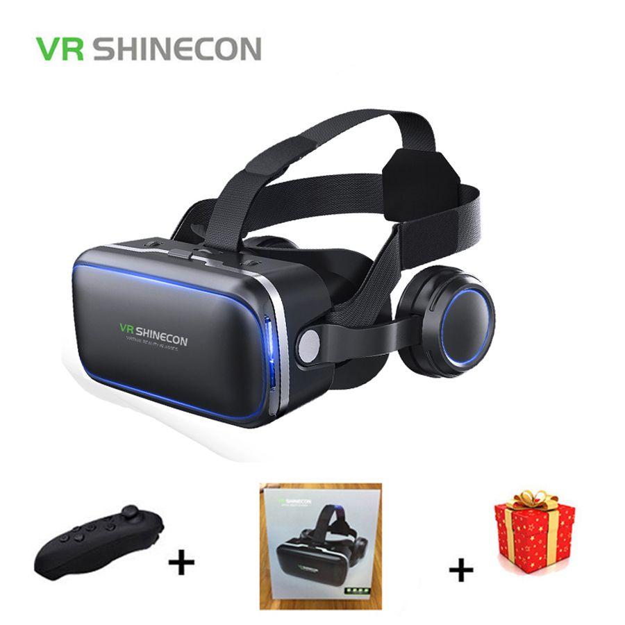 Шлем Стерео shinecon VR коробка виртуальной реальности Очки 3 d 3d очки гарнитура шлем для смартфонов смартфон картона Google