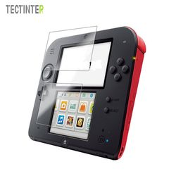 2 Set LCD Screen Protectors Film For 2DS Clear Touch Protect Seal Film Front+Bottom Screen Protectors Guard Set For 2DS