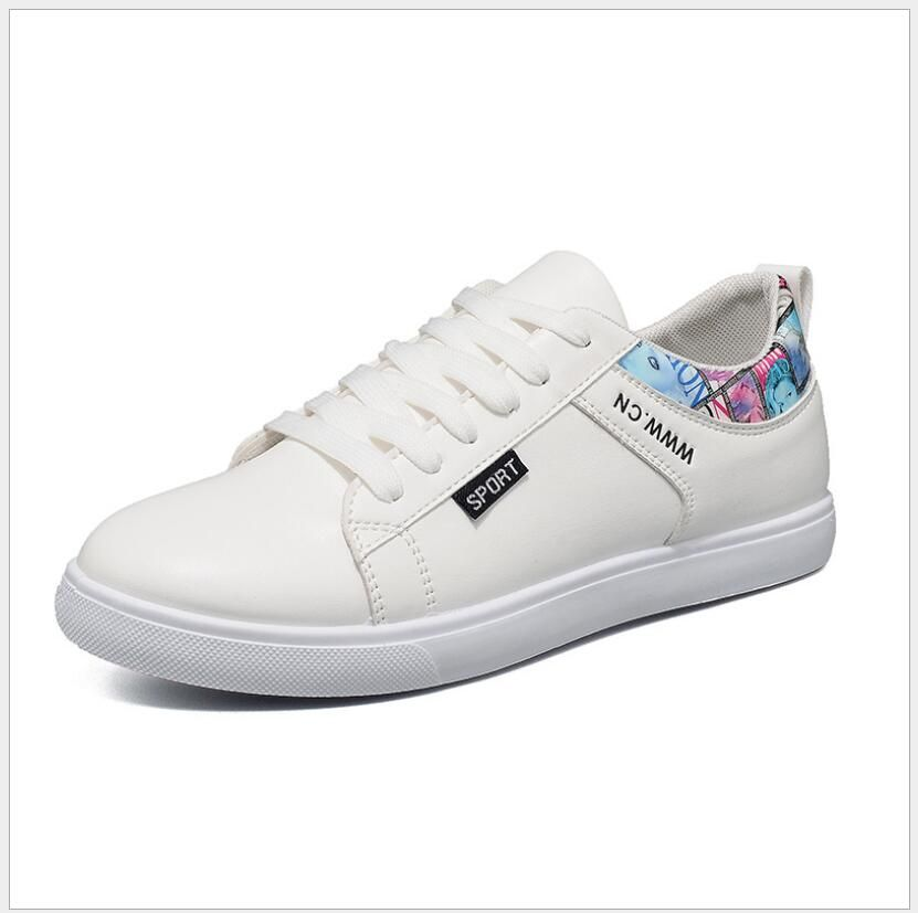 Summer student casual white shoes