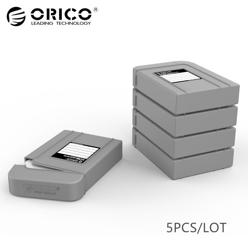 ORICO 3.5 HDD Case Bag HDD External Protect Protector Hard Disk Drive Cover Box Enclosure with Waterproof Function - 5PCS Gray