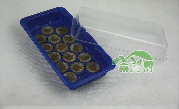 2 set, 15 trous boîte pépinière pots plateau de semis avec 30mm jiffy pépinière boîte, fournitures de jardin. plasctic. Démarreur de semences