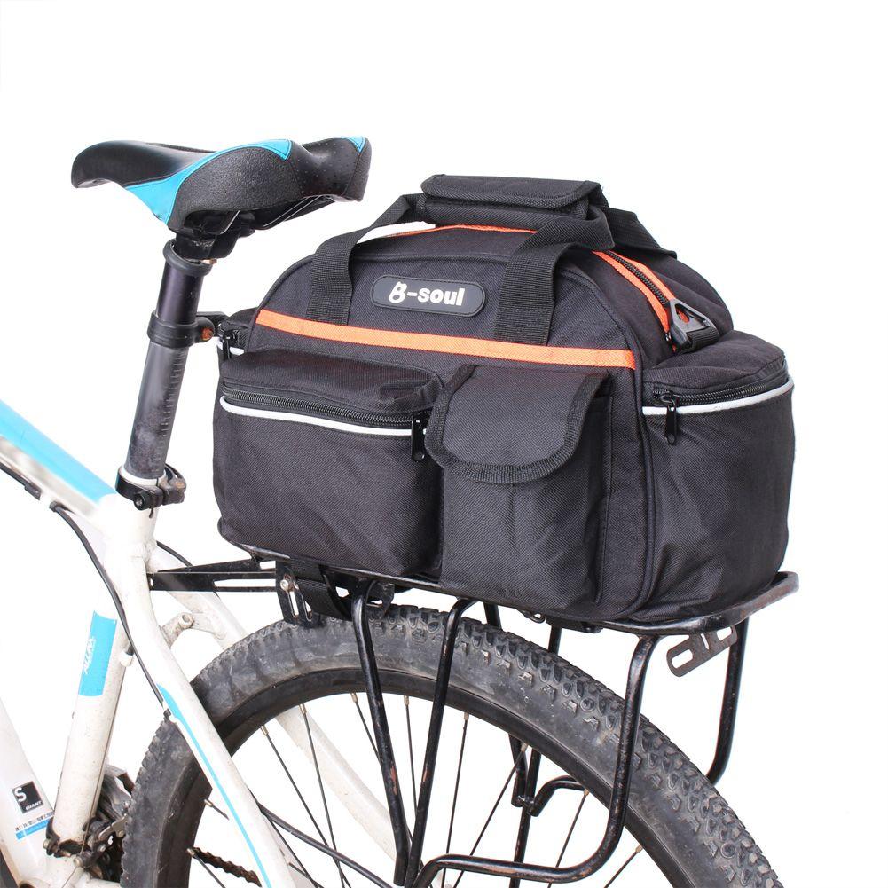 15L Bicycle Bike Bag Rear Seat Rack Trunk Bag For MTB Bike Saddle Bags <font><b>Storage</b></font> Case Pouch for Luggage Carrier bisiklet aksesuar