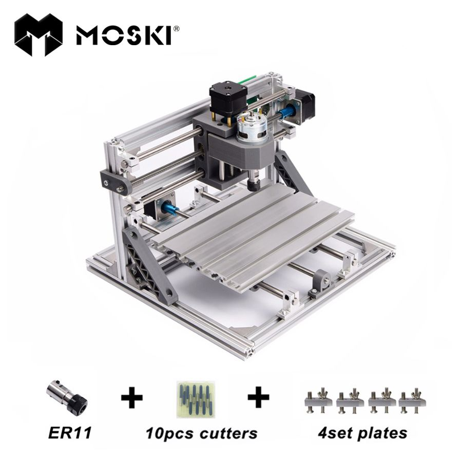 MOSKI ,CNC 2418 with ER11,diy mini cnc laser engraving machine,Pcb Milling Machine,Wood Carving machine,cnc router,cnc2418,toys