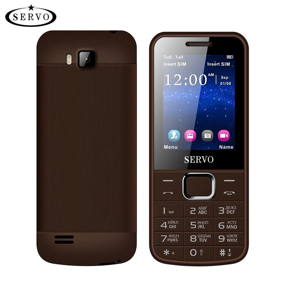 Original Phone SERVO 225 2.4 Dual SIM Cards Mobile Phones GPRS Vibration Outside FM Radio Bluetooth <font><b>cellphone</b></font> Russian keyboard