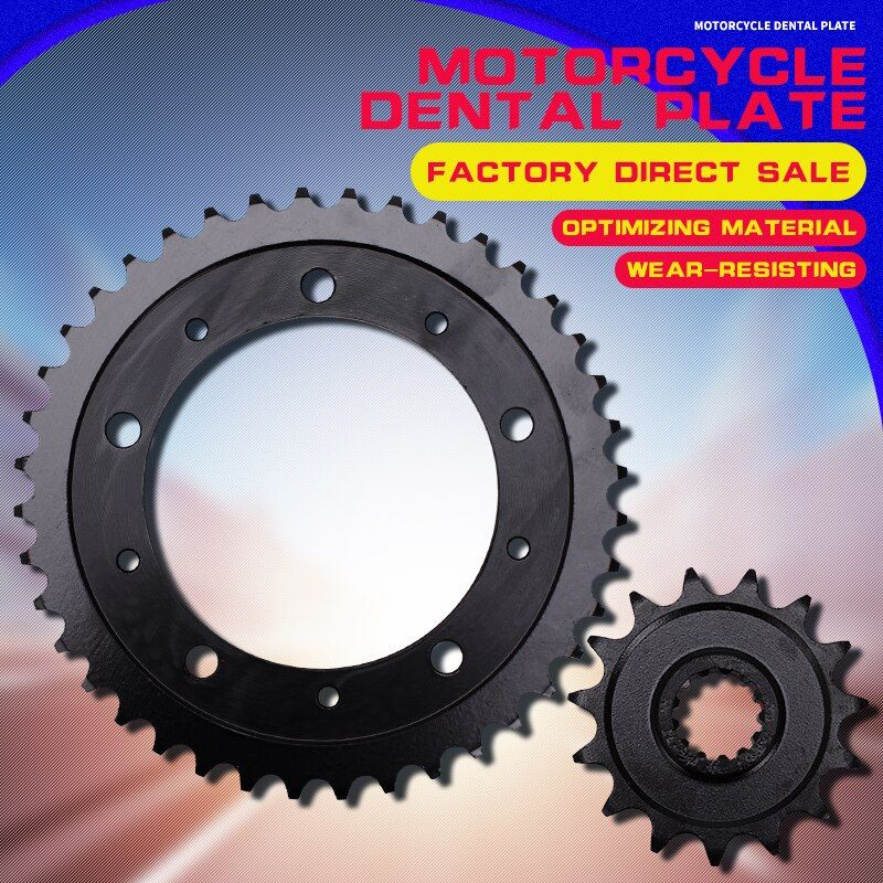 A Set Motorcycle Accessories Front and Rear Sprocket Chain For HONDA CBR400 NC29 CBR400RR CBR 400 MC29