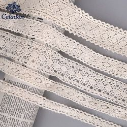 5 Yard/lot Beige Color Patchwork Cotton Crocheted Lace Ribbon Apparel Sewing Fabric Wedding Party Craft DIY Handmade Accessories