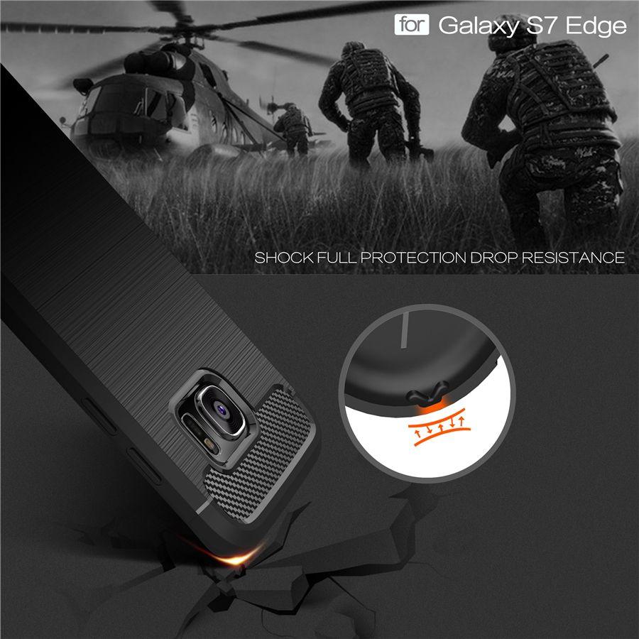 Противоударный чехол для телефона для Samsung Galaxy S6 S6 Edge S7 S7 Edge S8 S8 плюс углерода Волокно ТПУ рисунок Материал телефонные чехлы крышка