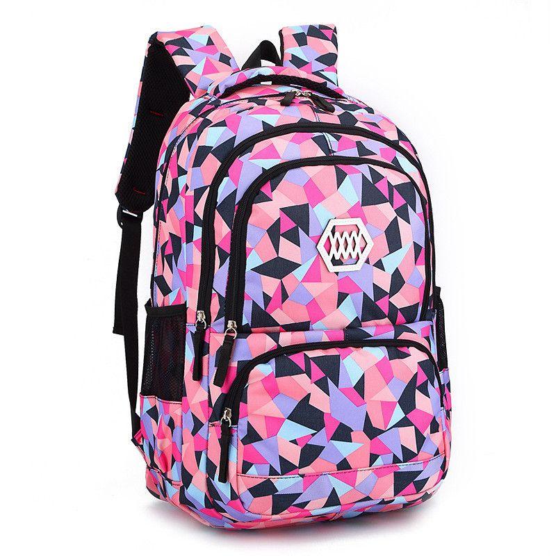 Модная одежда для девочек школьная сумка Водонепроницаемый свет Вес Обувь для девочек рюкзак сумки печать рюкзак ребенка