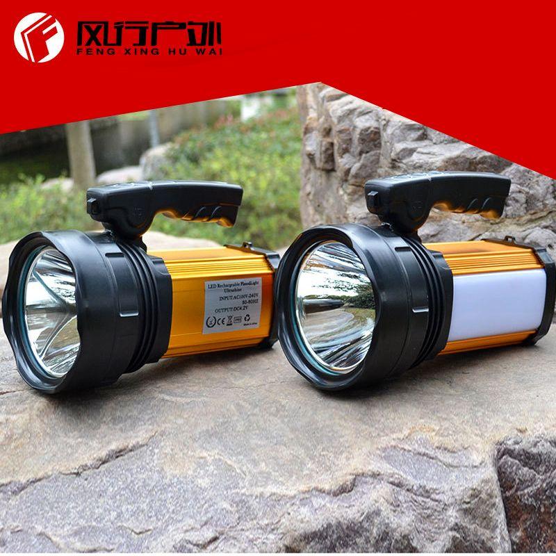 Lámpara que acampa Led de Gran Potencia y Larga Distancia de Iluminación Al Aire Libre Búsqueda de Iluminación Proyector Recargable con Cargador