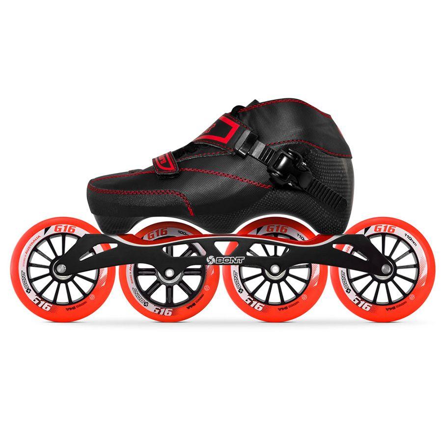 100% Original Bont Enduro 3PT Geschwindigkeit Inline Skates Heatmoldable Carbon Faser Boot S-frame7 G16 100/110mm Räder skating Patines