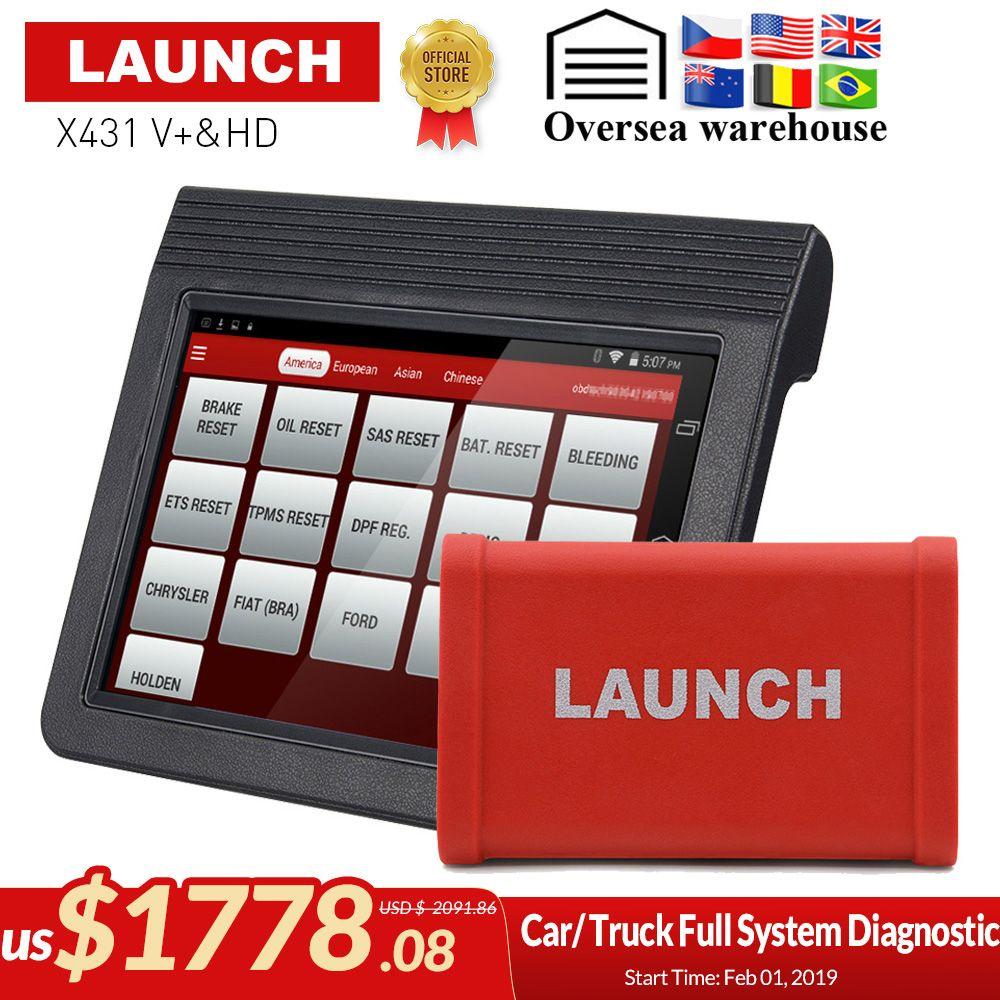 Original Launch X431 V + & X431 HD heavy duty 10,1 Screen Tablet Bluetooth/wifi auto diagnose scanner test für 12 V/24 V lkw
