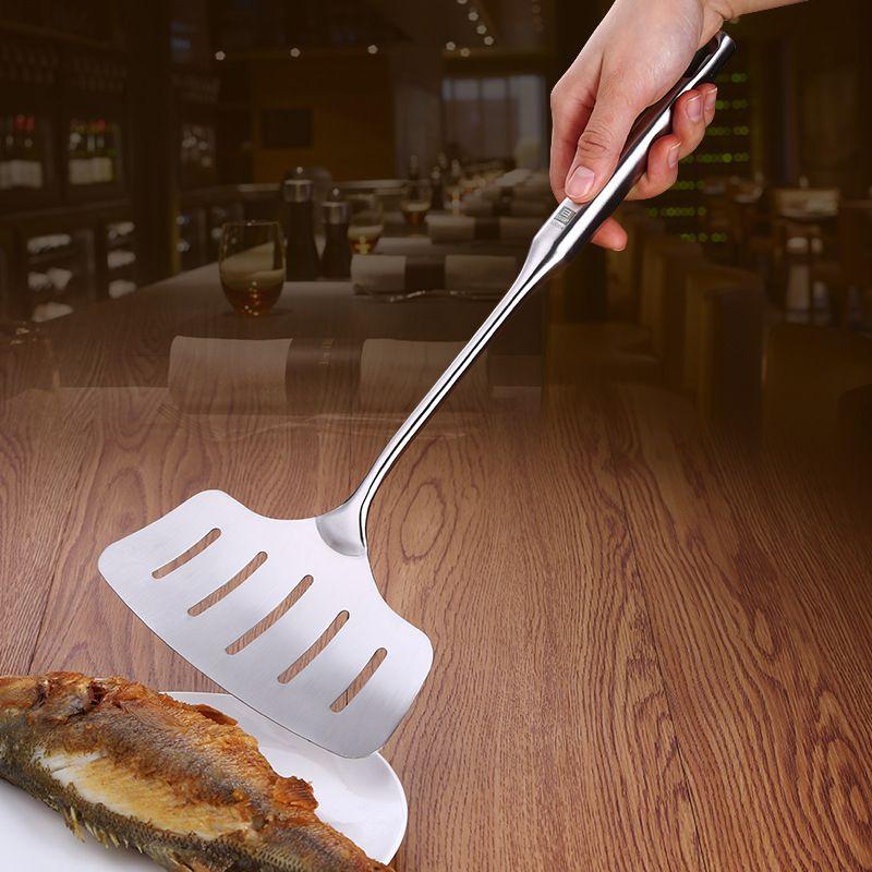 Gebratener Fisch Spatel Schaufel Schlitz Abgeschrägte Househould Utensilien Multifunktions SUS 304 Verdickt Edelstahl Kochen Steak