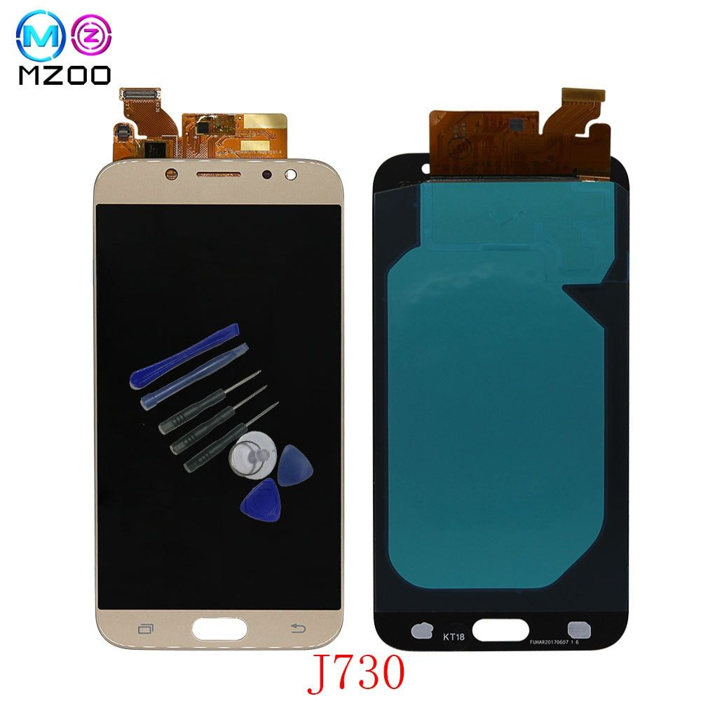 5.5'' AMOLED lcd For SAMSUNG Galaxy J7 Pro 2017 J730 J730F LCD Display Touch Screen Panel Digitizer Assembly Replacement Parts