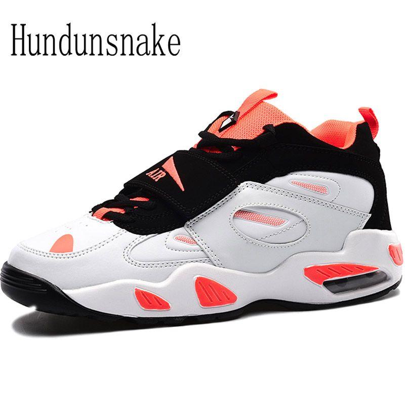 Hundunsnake White Sneakers Women's Leather Running Shoes For Men 2017 Ladies Shoes Sport Female Krasovki Cushioning Gumshoe T117