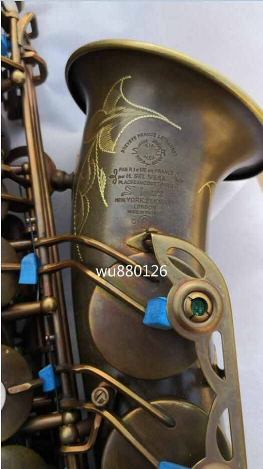 Neue Mark VI Alto Eb Saxophon Messing Rohr E-flache Einzigartige Retro Antike Kupfer Sax EINE Gute Geschenk Instrument mit Fall Freies Verschiffen