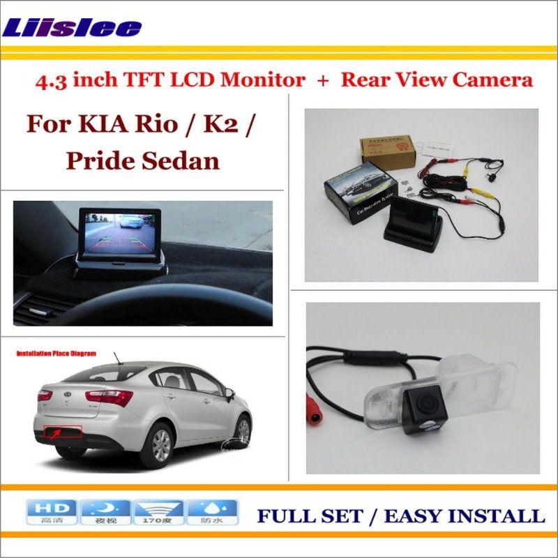 Liislee Für KIA Rio/K2/Stolz Limousine Auto Hintere Kamera + 4,3