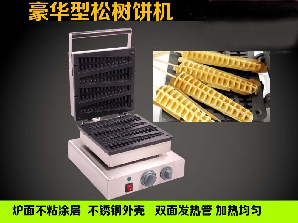 220V stainless steel electric corn shape taiyaki maker_commercial lolly waffle maker