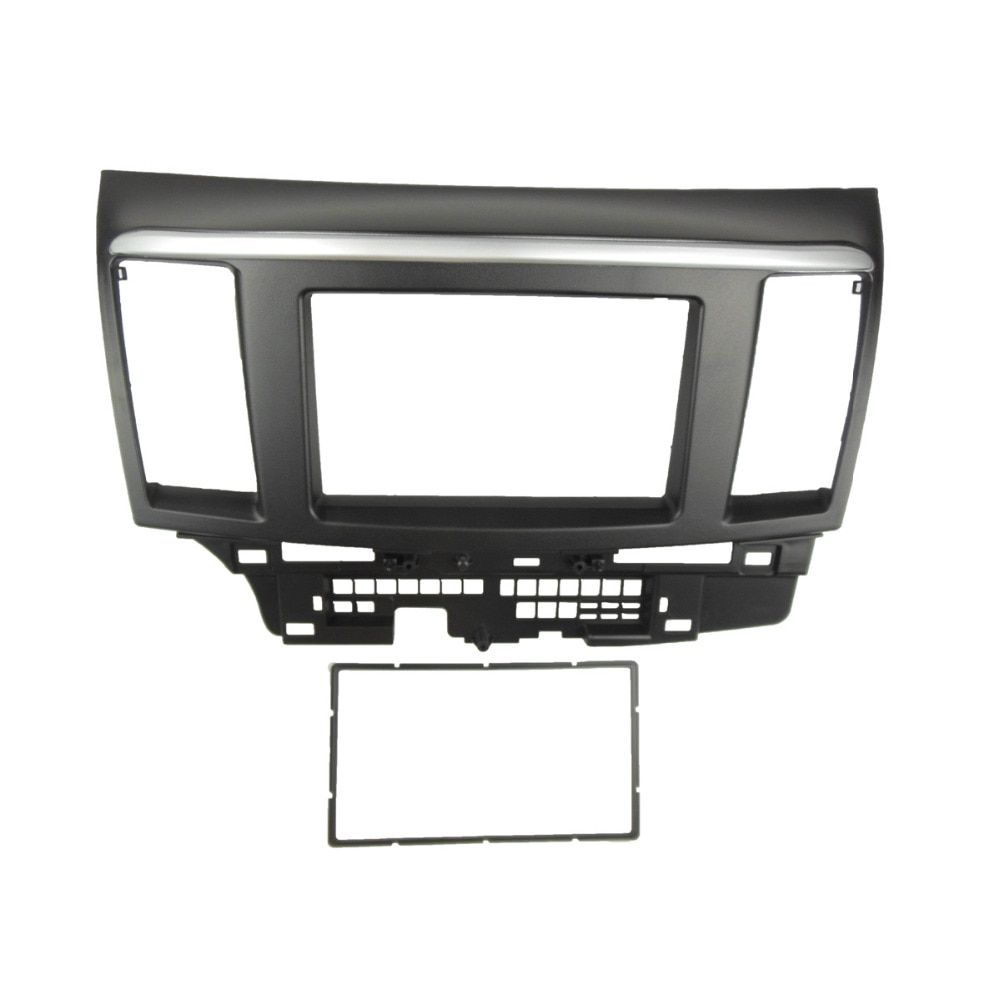 for MITSUBISHI LANCER FORTIS Double Din fascia Radio DVD Stereo Panel Dash Mounting Installation Trim Kit Face Frame