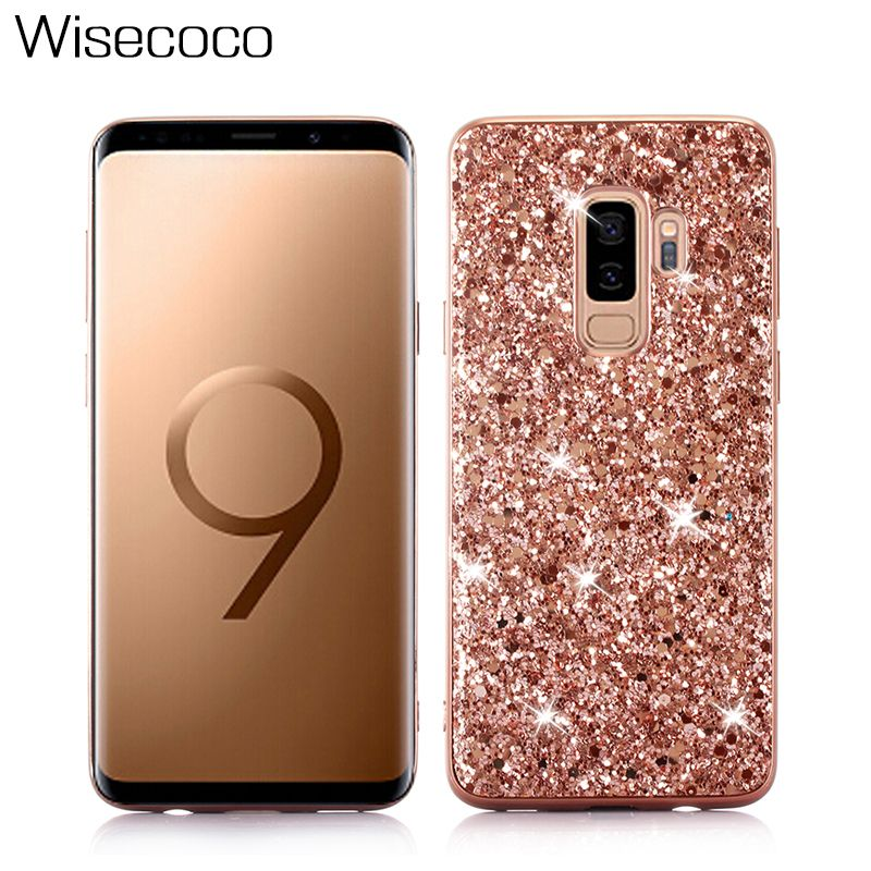 Luxury Bling Shining Phone TPU Casing For Sumsung Galaxy S9 J6 A6 2018 PLUS Hard Back Cover Cases Coque Capinha Etui Mujer Shell