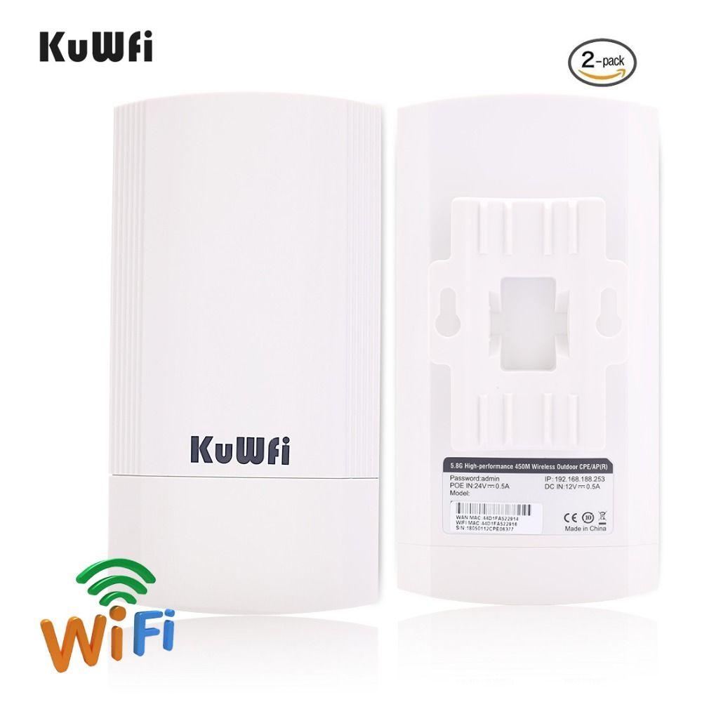 2 stück 5Ghz 450Mbps 2KM p2p Wireless Outdoor Wireless CPE Brücke Router Unterstützt WDS Funktion Keine einstellung mit Led-anzeige