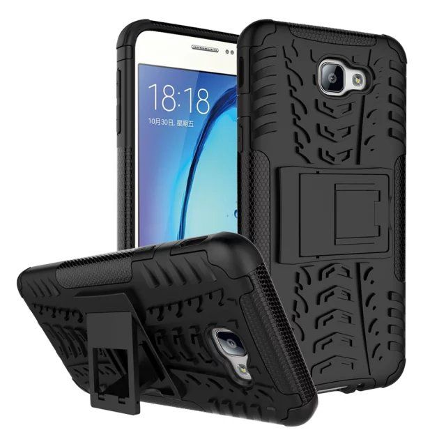For Samsung Galaxy On5 2016 Hybrid Textured Armor Hard Case For On7 2016 Case ShockProof Holder Cover