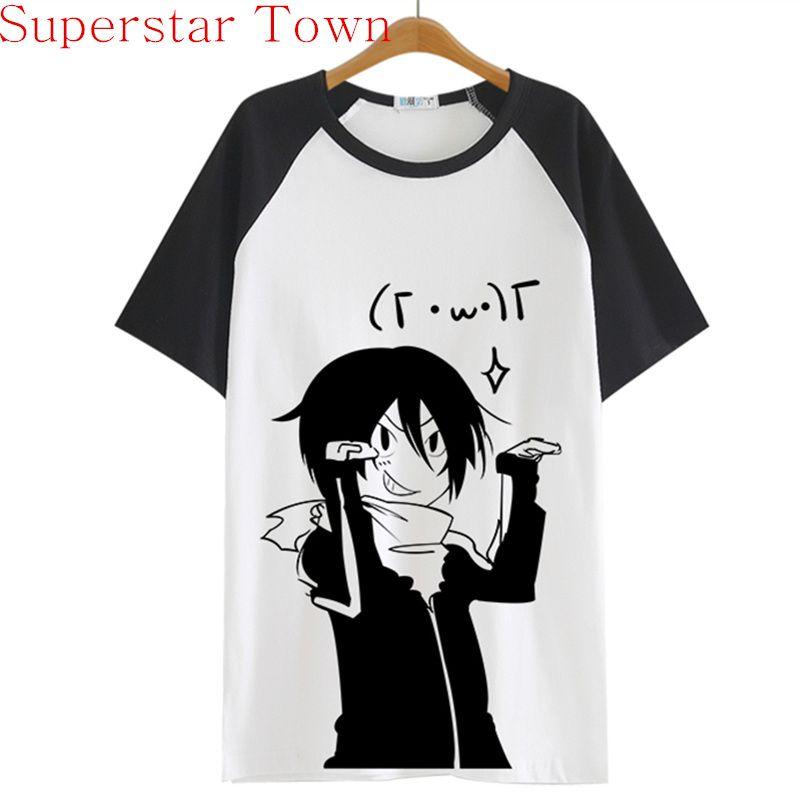 2016 Summer Style Sweat-Shirt Anime Tops Tee Casaul Noragami T-shirt Femmes Japon Cool Vêtements Patchwork Femelle Harajuku Chemise
