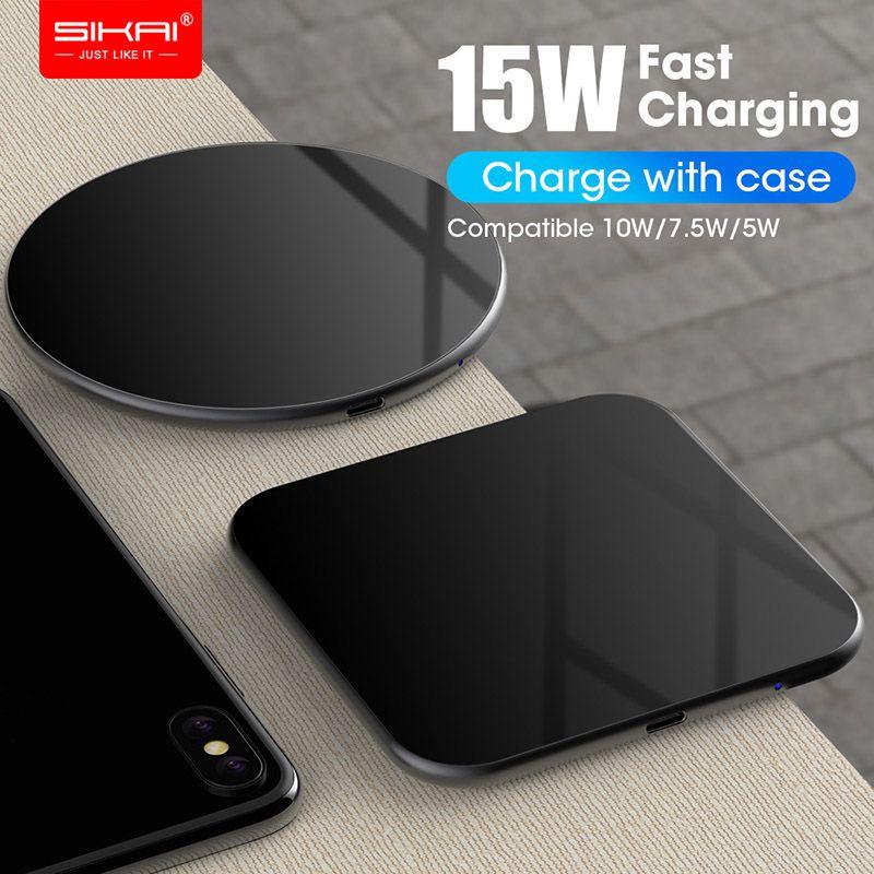15W QI chargeur rapide sans fil chargeur rapide usb tpye c QC 3.0 Station de téléphone Mobile pour iphone samsung s9 xiaomi SIKAI
