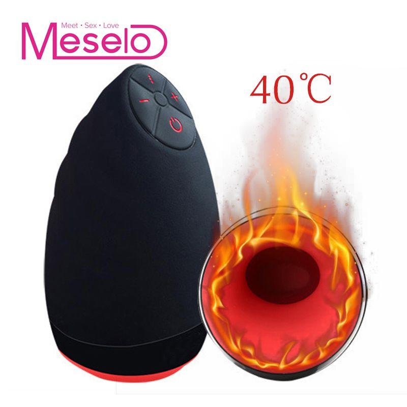 Meselo 6 Modes lécher sucer automatique Intelligent chaleur sexe Machine tasse de Masturbation orale vibrant réaliste vagin Sex Toy pour hommes