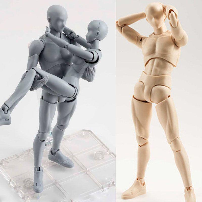14cm mâle femelle corps mobile Action Figure jouets artiste Art peinture Anime modèle poupée Mannequin bjd Art croquis dessiner