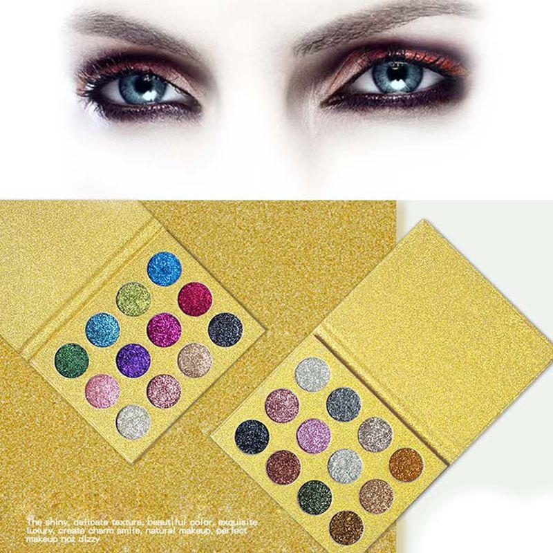 1 unid 12 color presionado brillo Ojos hadow Paletas Rainbow Diamond shdow ojo cosmética Paletas shimmer Smokey Ojos maquillaje cosméticos conjunto