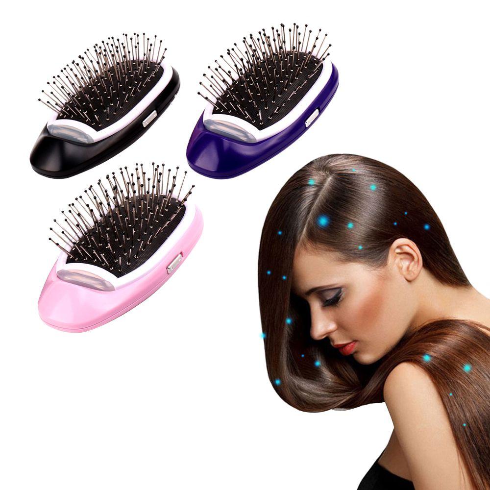 Brosse à cheveux ionique électrique Portable Ions négatifs peigne à cheveux brosse à cheveux modélisation brosse à cheveux