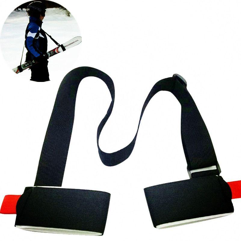 New Einstellbare Ski snowboard einfach rucksack langlauf-polig Schulter Hand Träger Lash Griff Dual Bord Band tasche Schwarz