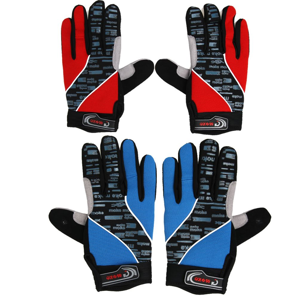 Outdoor Skiing Gloves Winter Warm Windproof Glove Mittens Full Finger Cycling Bicycle Mountain Riding Running Sports Gloves