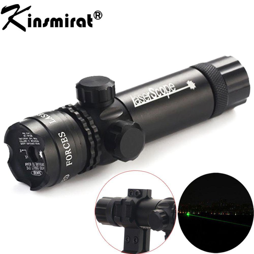 Vert Laser optique Sight Portée Avec Support pour Pistolet Rail et Fusil Pour Airsoft Pistolet de tir Chasse Tir 11/20mm