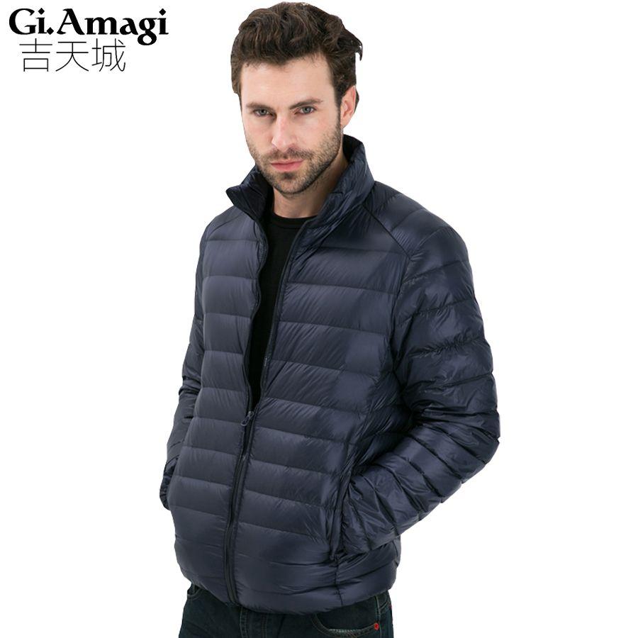2017 Autumn Winter Duck Down Jacket, Ultra Light Thin plus size winter jacket for men Fashion mens Outerwear coat