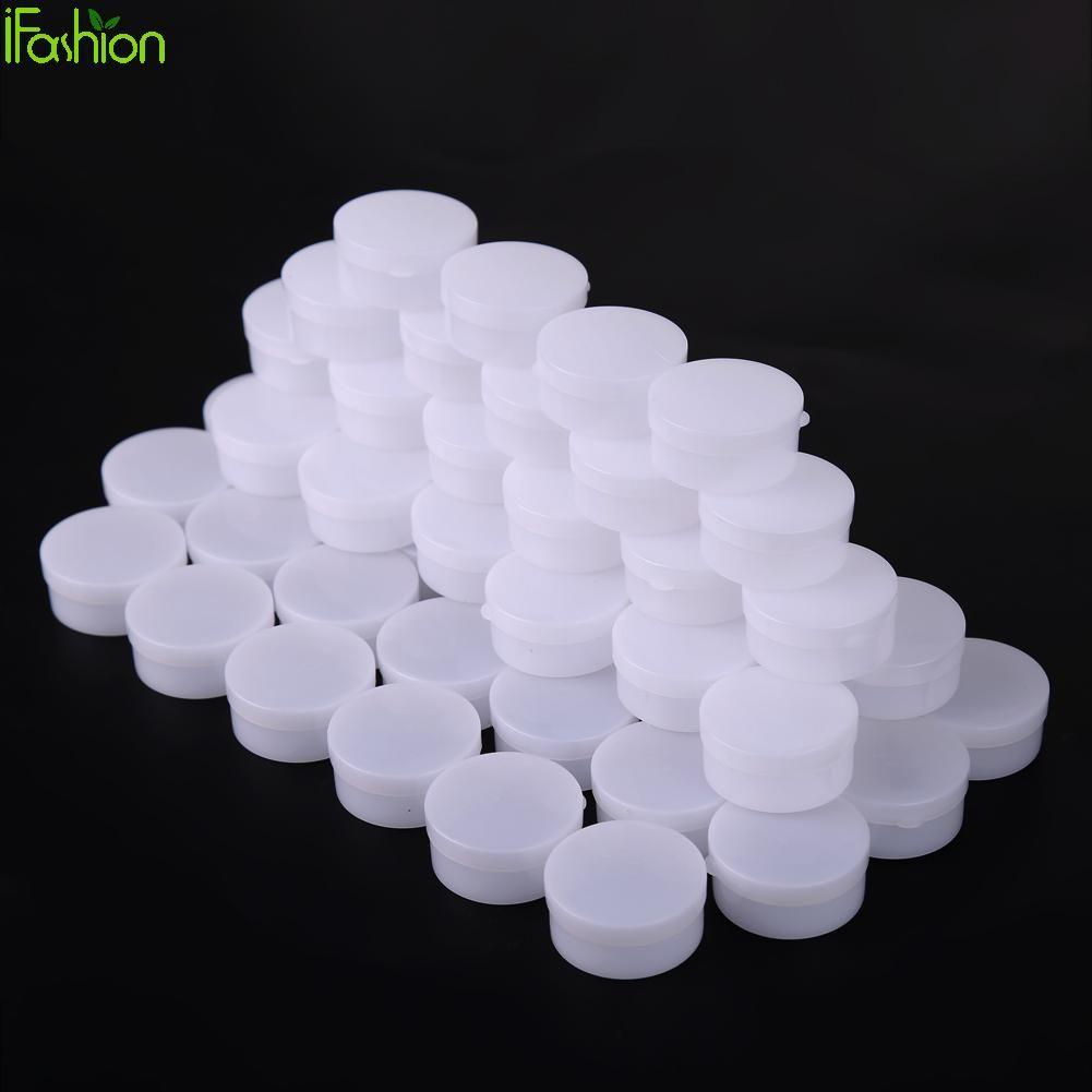 50 pcs Portable 50g Mini bouteilles rechargeables cosmétique vide Pot cosmétique Pot fard à paupières visage crème conteneur boîte en plastique médical